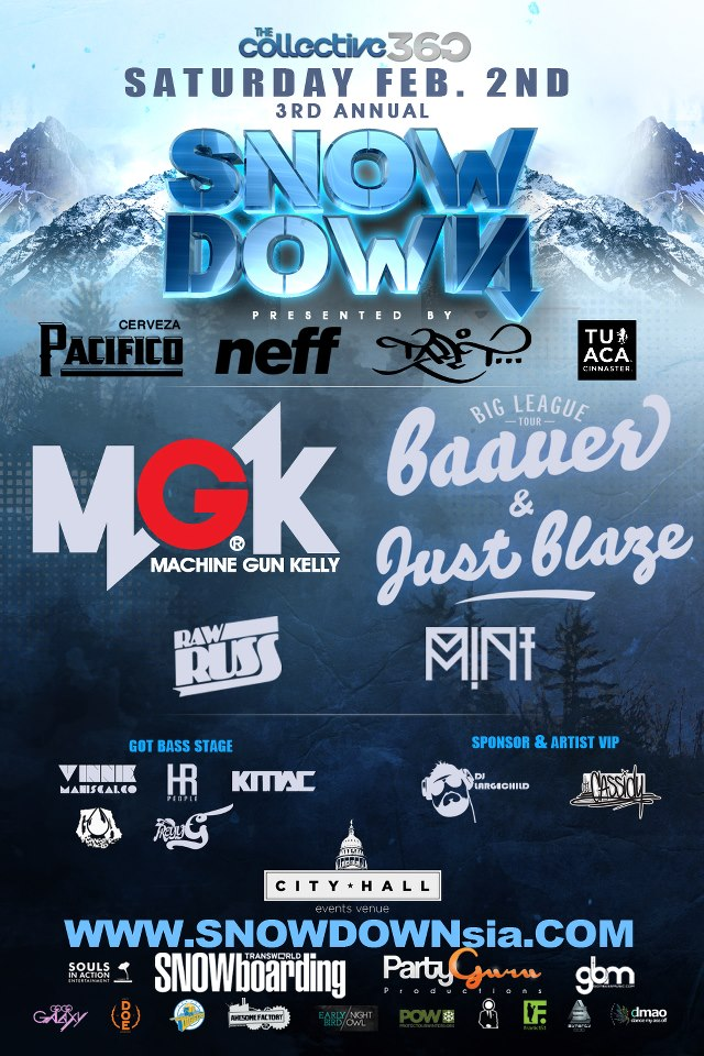 Baauer, Just Blaze, and MGK Takeover at SNOWDOWN 2013